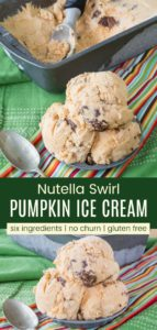 Nutella Swirl Pumpkin Ice Cream Pinterest Collage