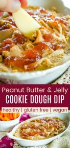 Peanut Butter and Jelly Hummus Pinterest Collage