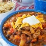 Pineapple Black Bean Crockpot Turkey Chili Recipe