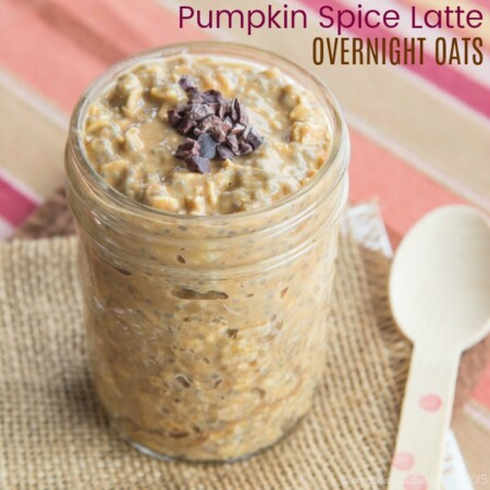 Starbucks-inspired Pumpkin Spice Latte Overnight Oats recipe