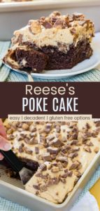 Reese's Peanut Butter Cup Poke Cake Recipe Pinterest Collage