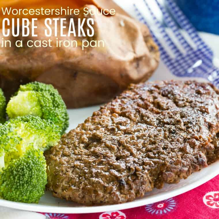 Easy Cube Steaks With Worcestershire Sauce Cupcakes Kale Chips