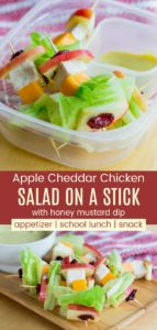 Apple Cheddar Chicken Salad on a Stick Pinterest Collage