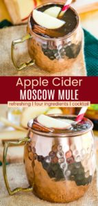 Apple Cider Moscow Mule Cocktail Recipe Pinterest Collage