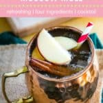 Apple Cider Moscow Mule Recipe Pin Template Pink