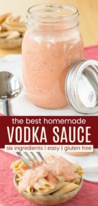 Easy Vodka Sauce Recipe Pinterest Collage