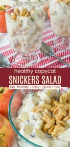 Copycat Greek Yogurt Snickers Salad Pinterest Collage