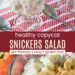 Copycat Greek Yogurt Snickers Salad Pinterest Collage
