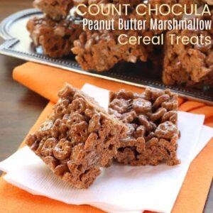 Peanut Butter Marshmallow Count Chocula Cereal Treats Recipe