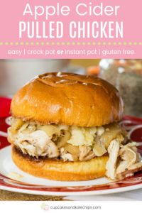 Crock Pot Apple Cider Pulled Chicken Pin Template Pink
