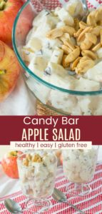 Easy Candy Bar Apple Salad Pinterest Collage