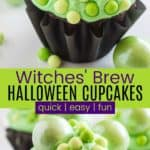 Witches Brew Halloween Cupcakes Pinterest Collage