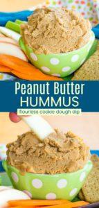 Flourless Peanut Butter Cookie Dough Dip Pinterest Collage