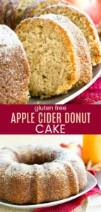 Gluten Free Apple Cider Donut Cake Pinterest Collage