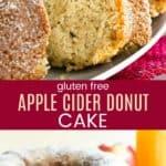 Gluten Free Apple Cider Donut Cake Pinterest Collage