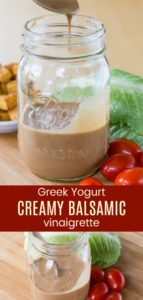Greek Yogurt Creamy Balsamic Vinaigrette Salad Dressing Pinterest Collage