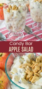 Healthy Candy Bar Apple Salad Pinterest Collage