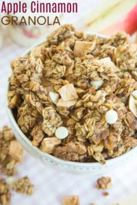 Homemade Apple Cinnamon Granola Recipe
