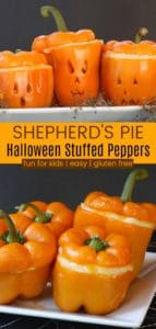 Jack O'Lantern Stuffed Peppers with Ground Beef