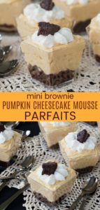 Mini Brownie Pumpkin Cheesecake Mousse Parfaits Pinterest Collage