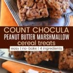 Count Chocula Peanut Butter Marshmallow Cereal Treats Pinterest Collage