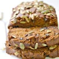 Gluten Free Vegan Pumpkin Bread