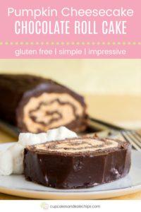 Pumpkin Cheesecake Chocolate Roll Cake Pin Template Pink