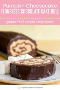 Pumpkin Cheesecake Flourless Chocolate Pin Template Pink