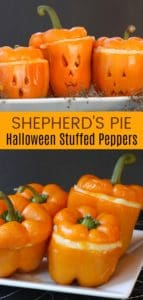 Shepherd's Pie Halloween Stuffed Peppers
