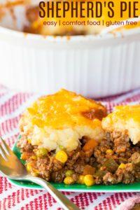 Gluten Free Shepherd's Pie on a plate