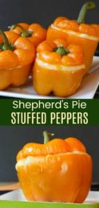 Shepherd's Pie Stuffed Peppers Pinterest Collage