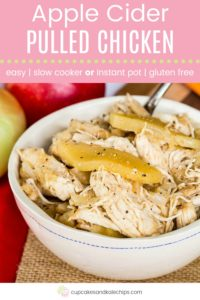 Slow Cooker Apple Cider Pulled Chicken Pin Template Pink