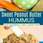 Sweet Peanut Butter Hummus Pinterest Collage