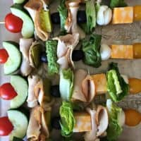 Turkey Sandwich Kebabs
