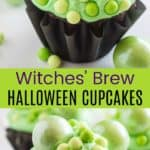 Easy Halloween Cupcakes Chocolate Pinterest Collage