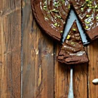 Flourless Chocolate Cake with Nutella Frosting