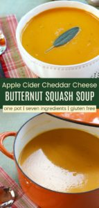 Cheddar Cheese Butternut Squash Soup with Apple Cider Pinterest Collage