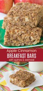 Gluten Free Apple Breakfast Bars Pinterest Collage