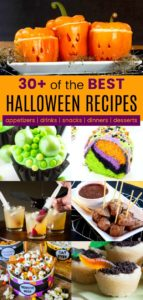 Vertical Collage of the Best Halloween Recipes