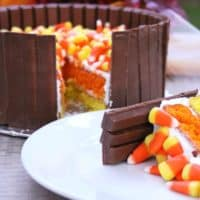 Kit Kat & Candy Corn Cake