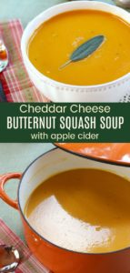 Apple Cider Cheddar Cheese Butternut Squash Soup Pinterest Collage