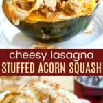 Gluten Free Lasagna Stuffed Acorn Squash Pinterest Collage
