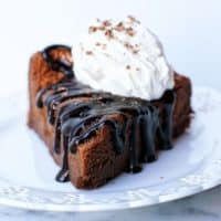 Chocolate Flourless Cake with Frangelico Whipped Cream