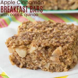 Apple Cinnamon Quinoa Gluten Free Breakfast Bar Recipe