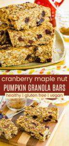Maple Pumpkin Spice Granola Bars Pinterest Collage