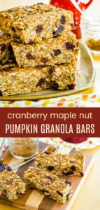 Maple Pumpkin Spice Granola Bar Recipe Pinterest Collage