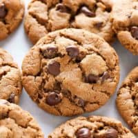 Easy Flourless Almond Butter Chocolate Chip Cookies