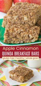 Apple Cinnamon Quinoa Oatmeal Breakfast Bars Pinterest Collage
