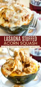 Lasagna Stuffed Acorn Squash Pinterest Collage