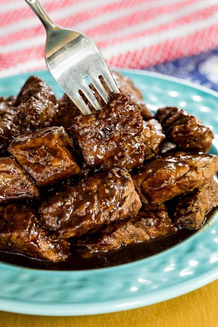 Honey Balsamic Steak Bites